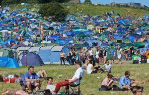 Campers at Glatonbury