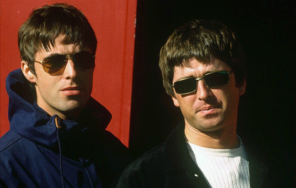 Liam and Noel Gallagher in Oasis