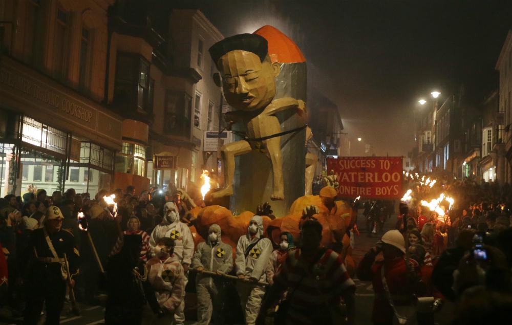 Kim Jong Un, Effigy, Bonfire Night