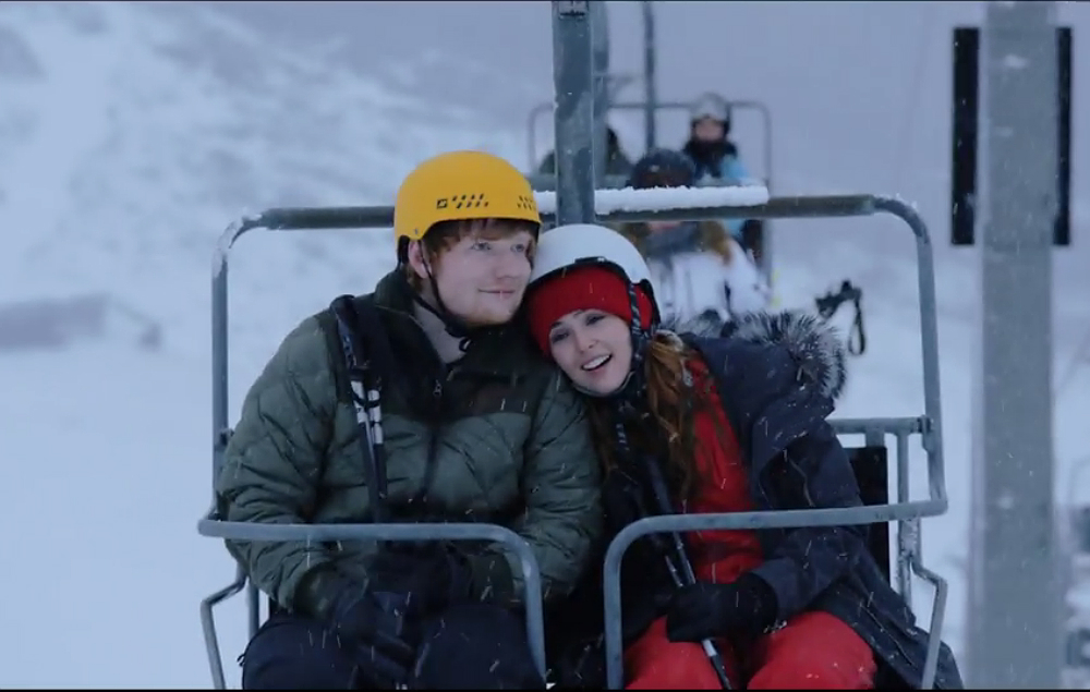 Ed Sheeran Unveils Festive New Video For Perfect