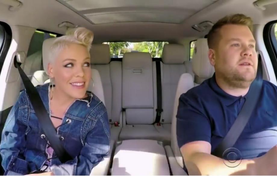 Watch Pink S Carpool Karaoke Episode With James Corden Nme