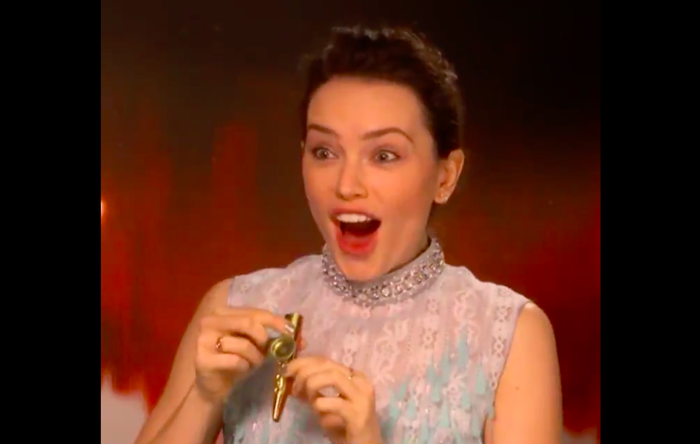 Watch Daisy Ridley Play The Star Wars Theme Song On A