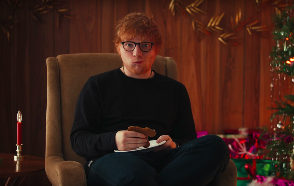 Watch Ed Sheeran Eat A Gingerbread Man Version Of Himself