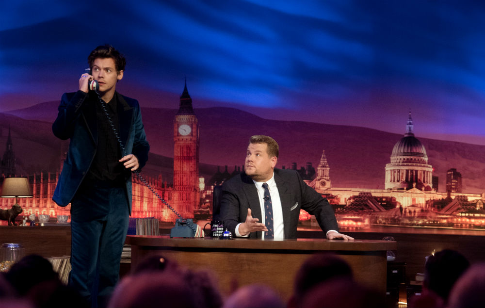 Watch Harry Styles Fill In As Late Late Show Host After