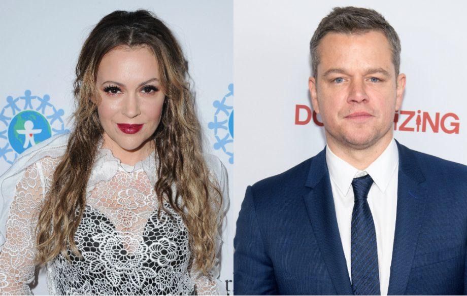 Alyssa Milano has criticised Matt Damon for his comments