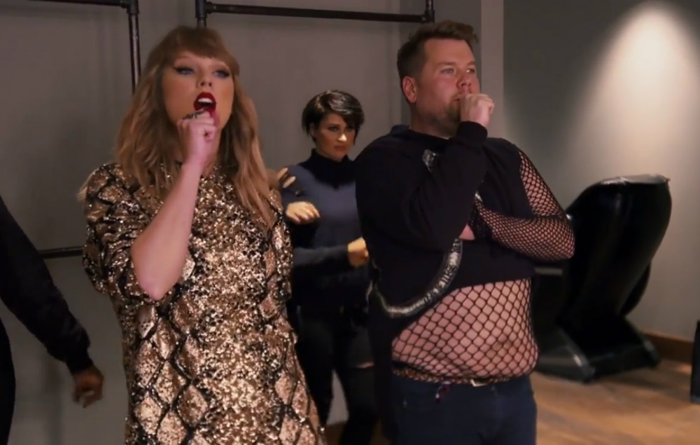 Watch James Corden Invade Ed Sheeran Taylor Swift And Sam