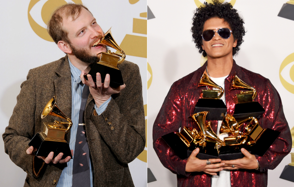Bon Iver is quite angry about Bruno Mars' Grammy wins - NME