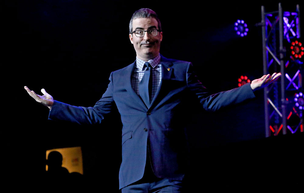 Watch John Oliver run away from breaking news alerts in ...