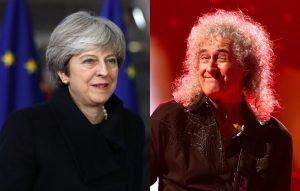 Theresa May and Brian May