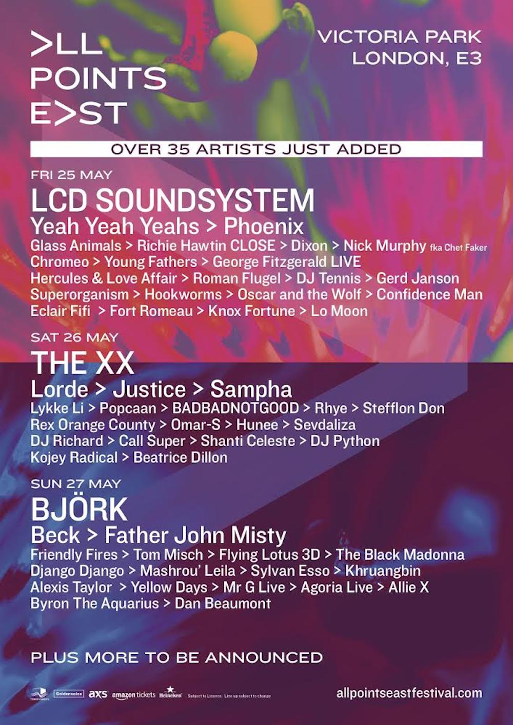 Loads More Names Announced For All Points East Festival Nme