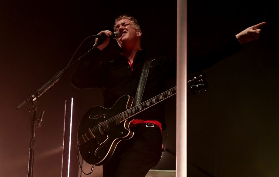 Josh Homme of Queens Of The Stone Age Perform At The Forum on February 17, 2018 in Inglewood, California.