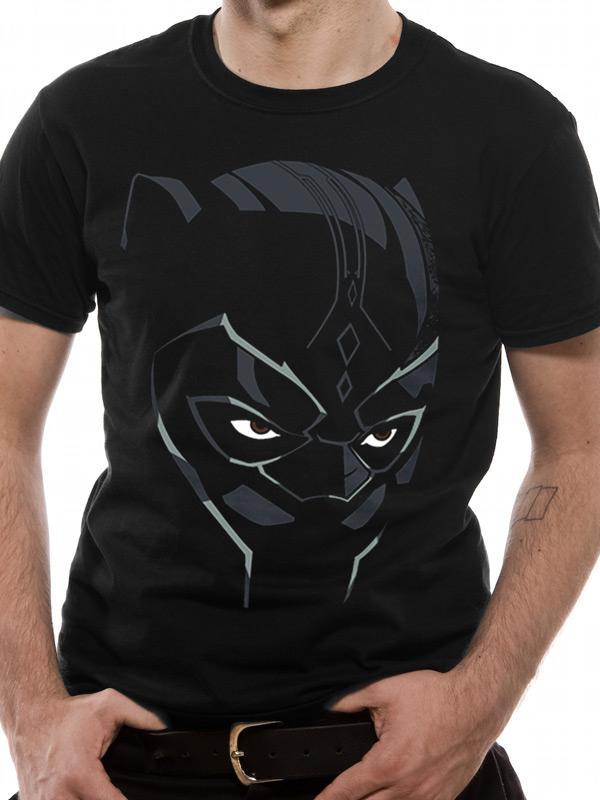 Black Panther Movie Comic Mask Men's T-Shirt
