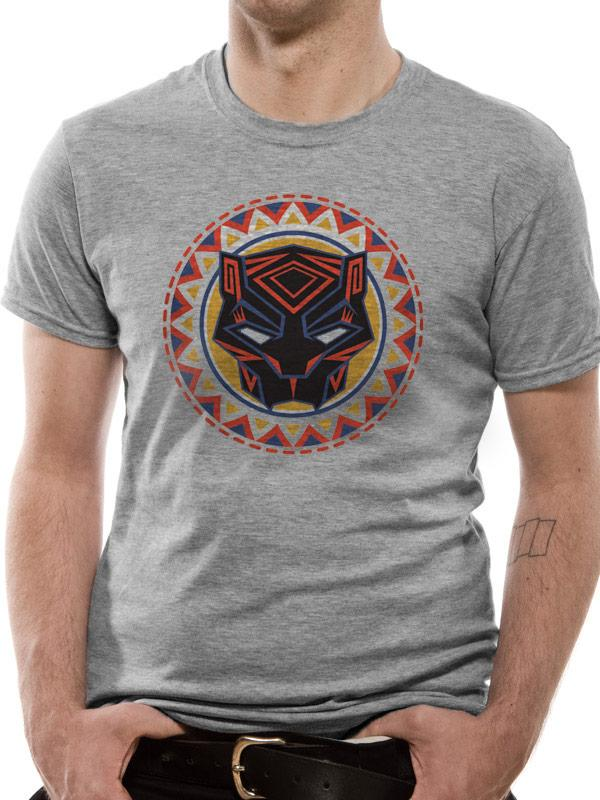 Black Panther Movie Circle Logo Men's T-Shirt
