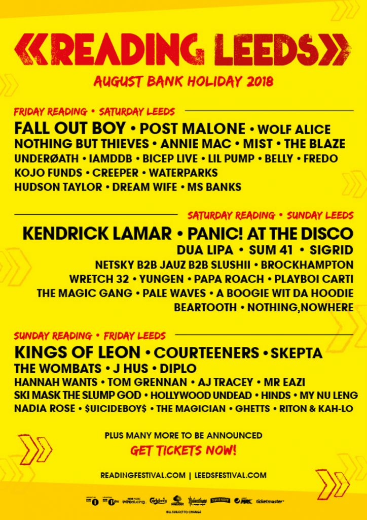 Reading Amp Leeds Festival 2018 Headliners And Full Line Up