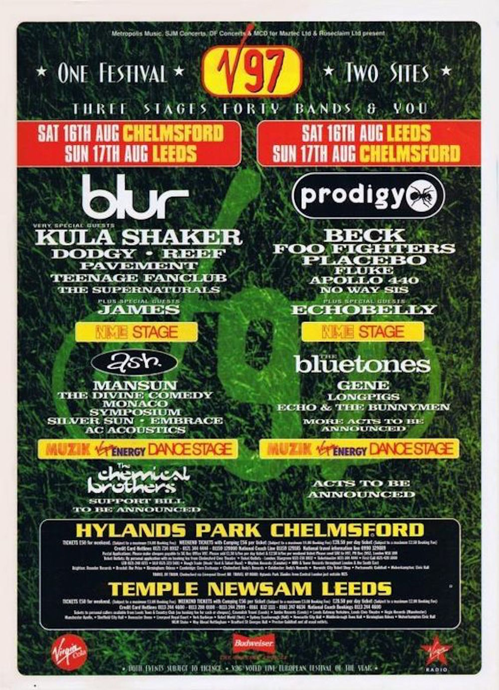 Every V Festival poster and line-up since 1996 - NME