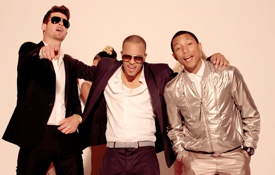 Image result for pharrell williams and robin thicke blurred lines