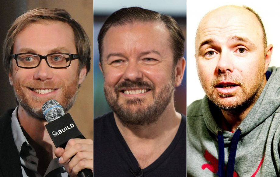 Ricky gervais responds to rumours that hes fallen out with stephen stephen merchant ricky gervais karl pilkington credit getty m4hsunfo