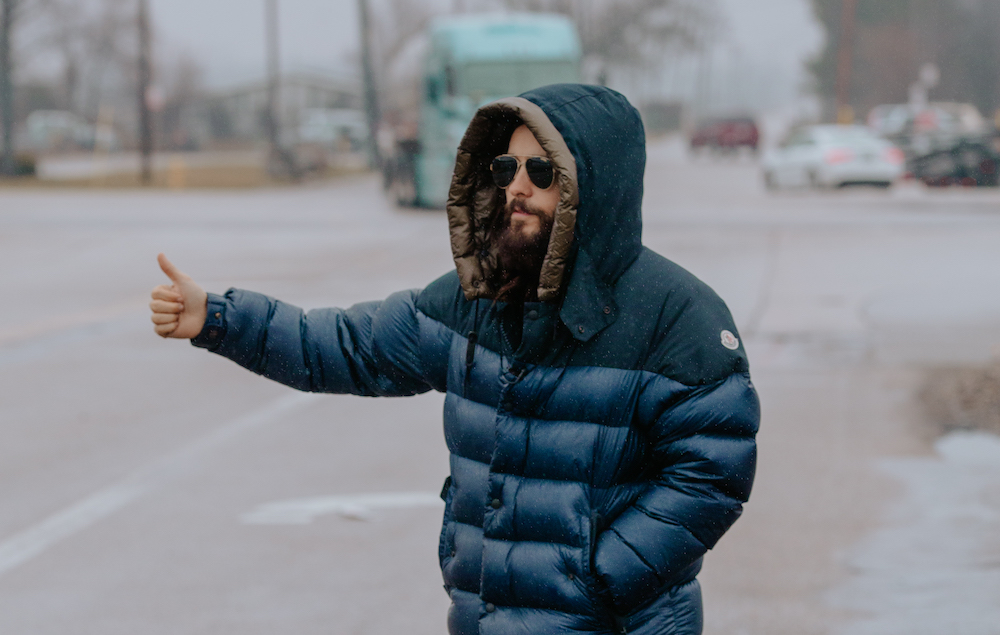 Jared Leto Is Hitchhiking Across America To Promote 30