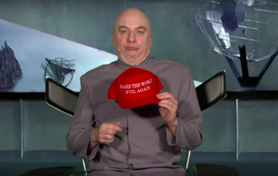 mike myers brings back dr evil to take aim at trump nme