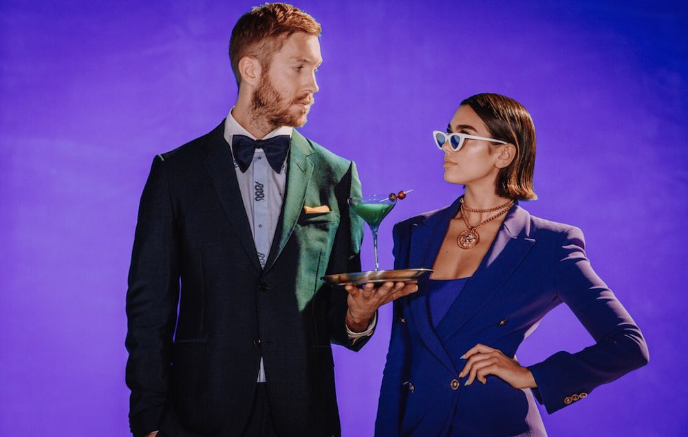 Calvin Harris, Dua Lipa & Tove Lo in Studio Together