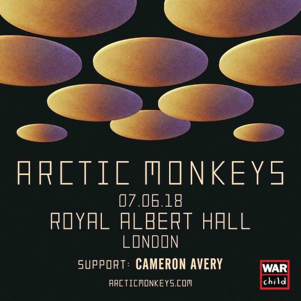 Arctic Monkeys will play London's Royal Albert Hall in June