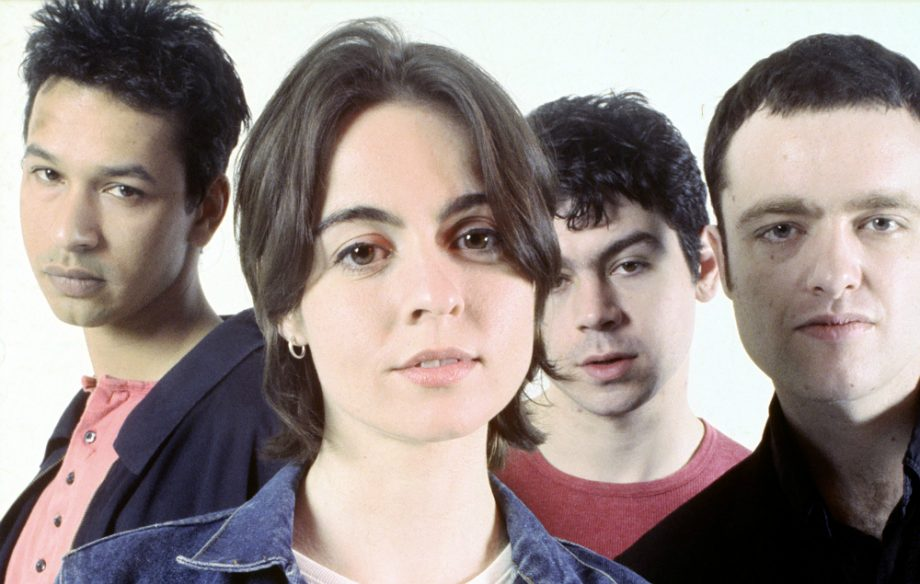 The Band Sleeper looking at the camera with Louise Wener is the foreground