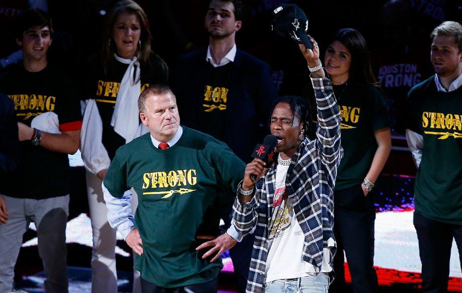 2dd1483e70f7 Travis Scott honours Santa Fe shooting survivors at basketball game ...