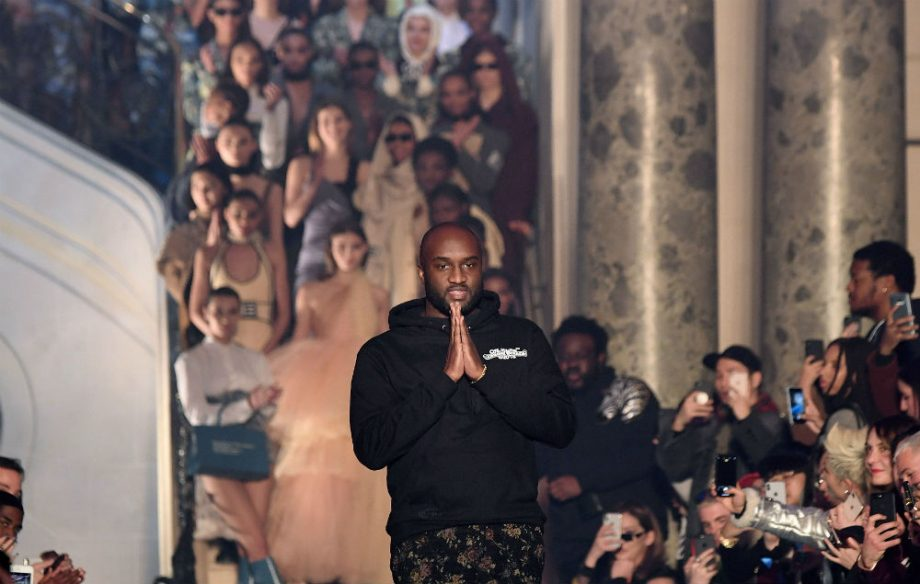 cde8b1c04dd7 Virgil Abloh and Kanye West share an emotional hug at Paris Fashion ...