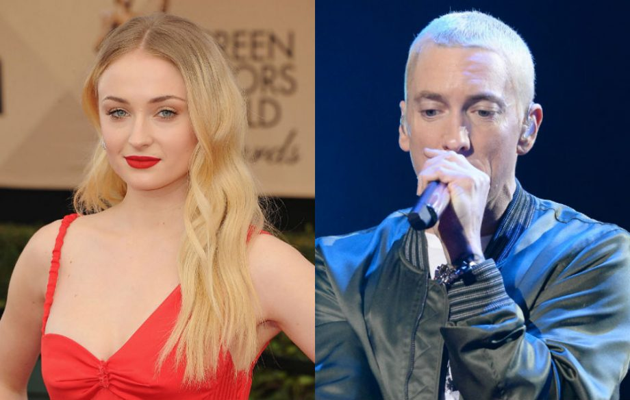 watch game of thrones sophie turner rap along to the real slim