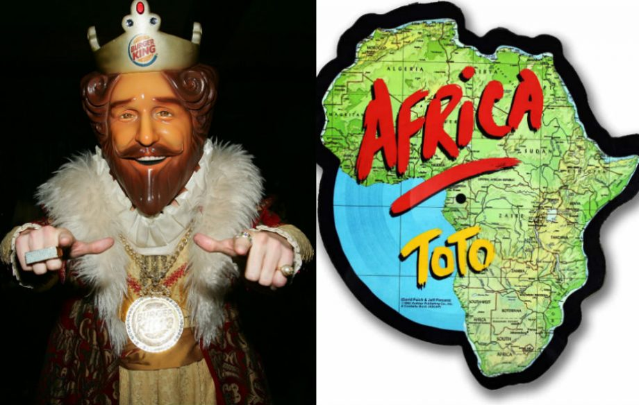 Bless the rains! Burger King to play Toto\'s \'Africa\' all day at ...