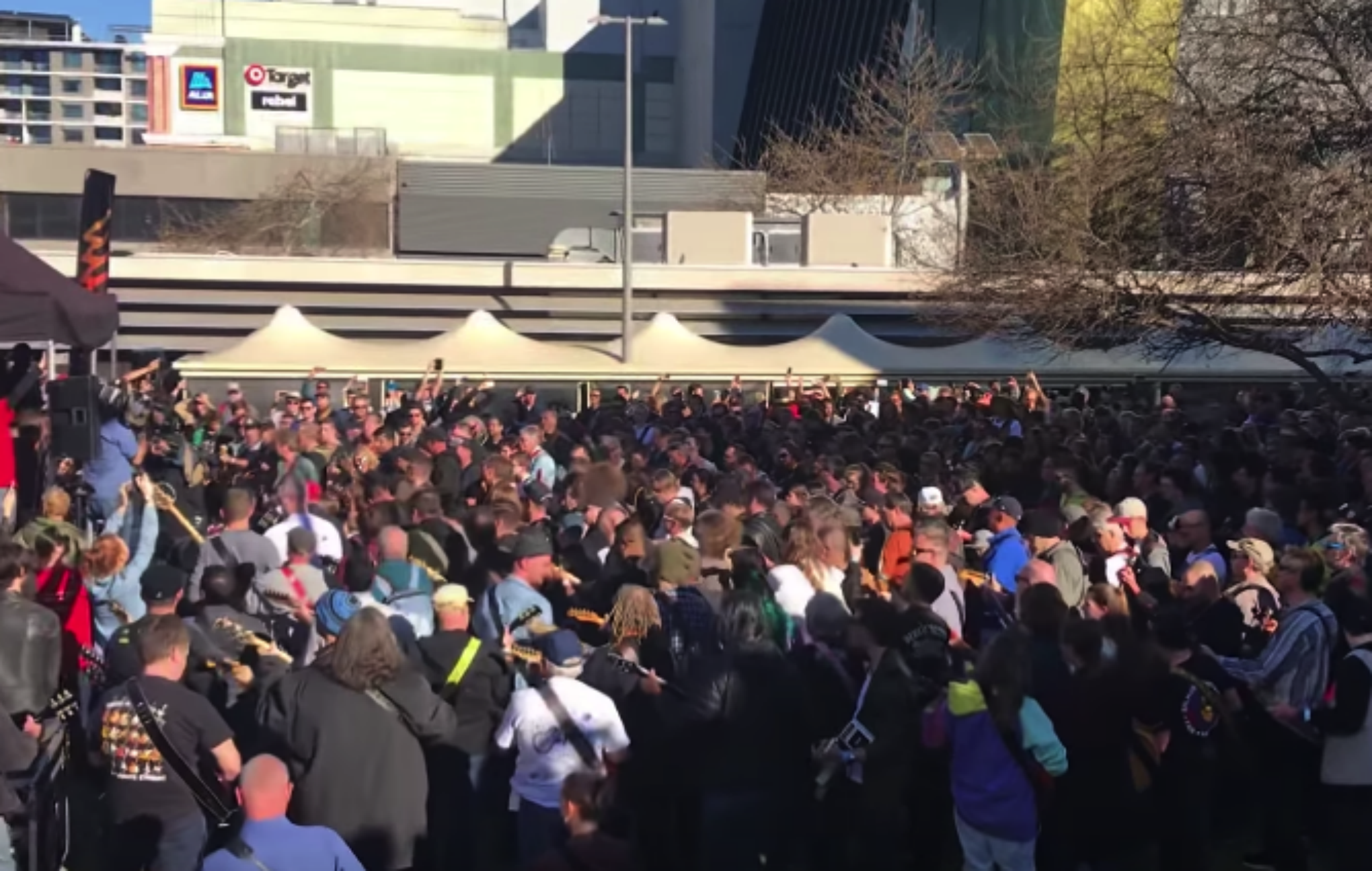 Let there be rock! 450 guitarists play AC/DC's 'Highway to Hell' to break world record