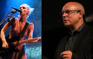 Wolf Alice singer Ellie Rowsell and Brian Eno