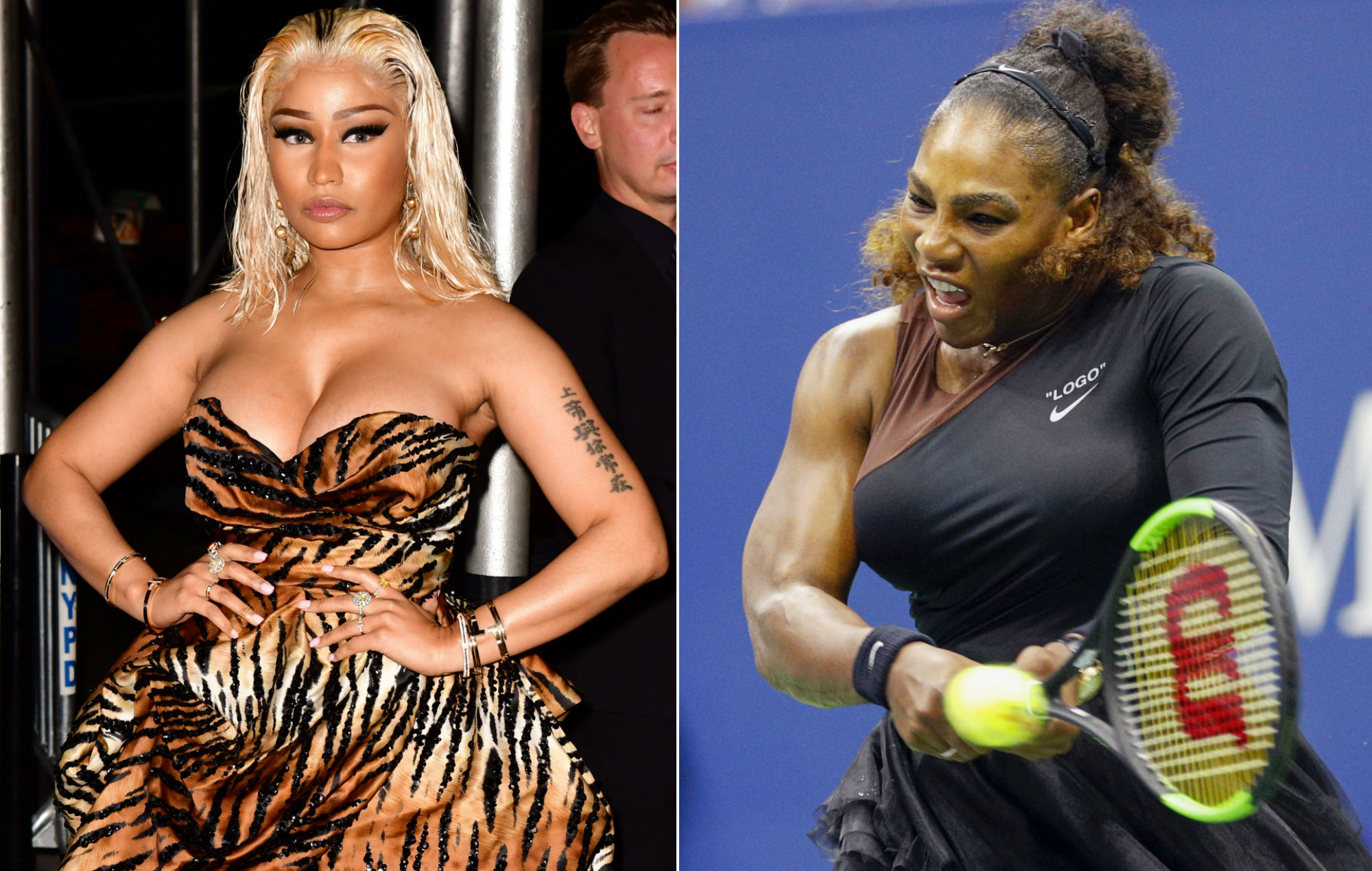 Nicki Minaj Hits Out At Racist Artist For Serena