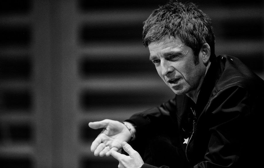 917afe711b21 Noel Gallagher on stage during the launch of his new book 'Any Road Will  Get Us There (If We Don't Know Where We're Going)' at Kings Place on  October 23, ...