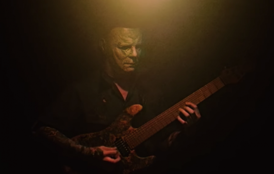Watch 'Michael Myers' play a heavy metal version of the iconic 'Halloween' theme tune