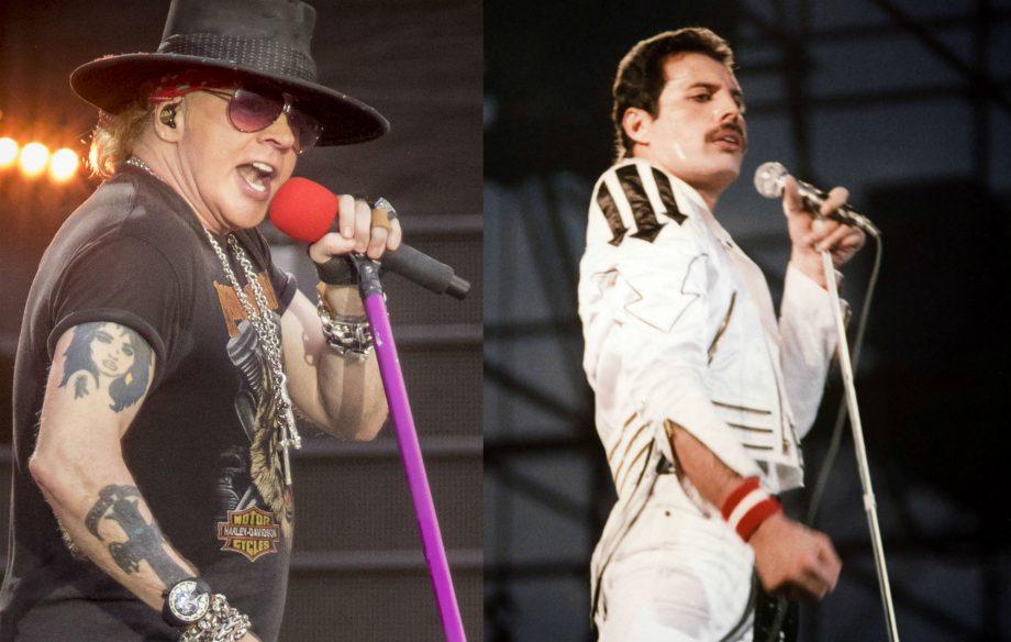 Axl Rose And Freddie Mercury