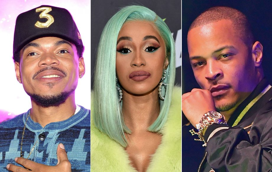 Image result for Cardi B., Chance The Rapper And T.I.