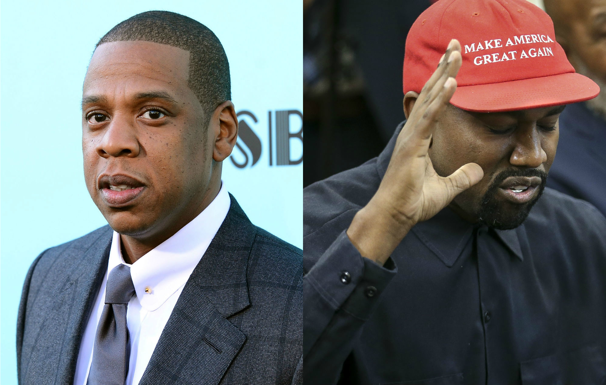 jay z clarifies maga hat kanye west lyric from his feature spot on new meek mill track 39 what 39 s free 39. Black Bedroom Furniture Sets. Home Design Ideas