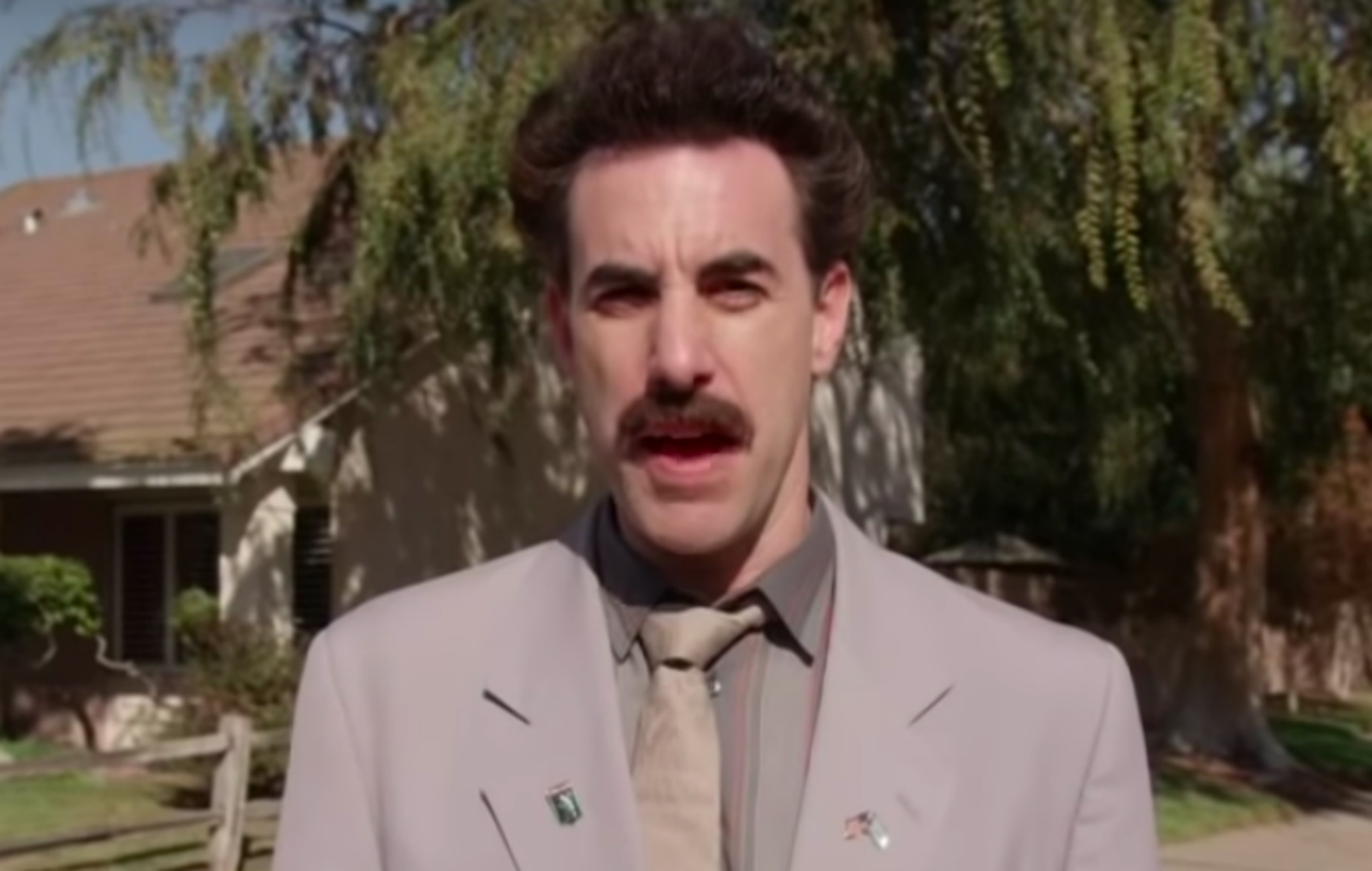 Borat Taunts Jewish Voter With Bacon As He Returns In