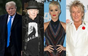 "Katy Perry, Rod Stewart And Neil Young Attack Donald Trump Over His ""heartless"" Tweet About Californian Wildfires"