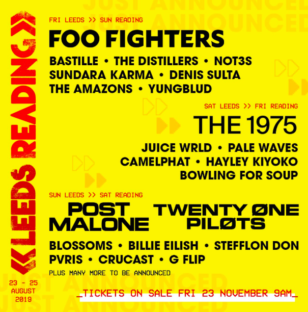 Reading & Leeds Festival announce headliners and first acts for 2019