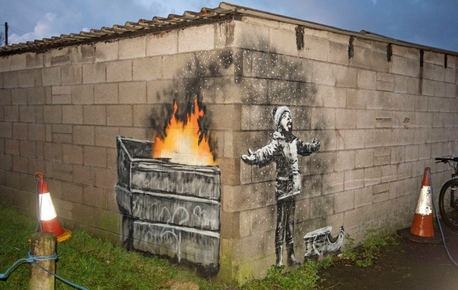 Banksy Confirms He S Behind New Painting Spotted In Wales