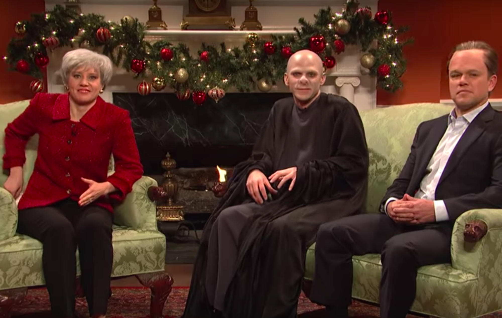 Watch Theresa May interview Lord Voldemort and David Cameron during this ridiculous 'SNL' sketch - NME Live