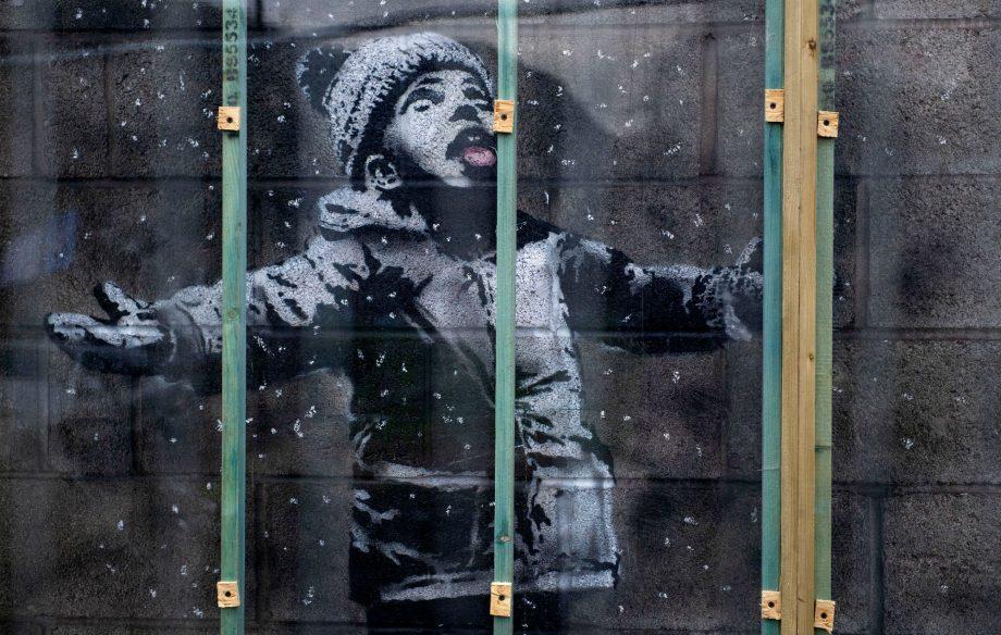 Banksy artwork on Port Talbot garage wall sold for six-figure sum