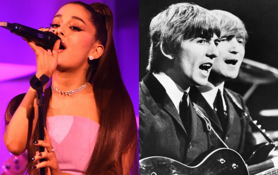 Ariana Grande first artist since The Beatles to take top