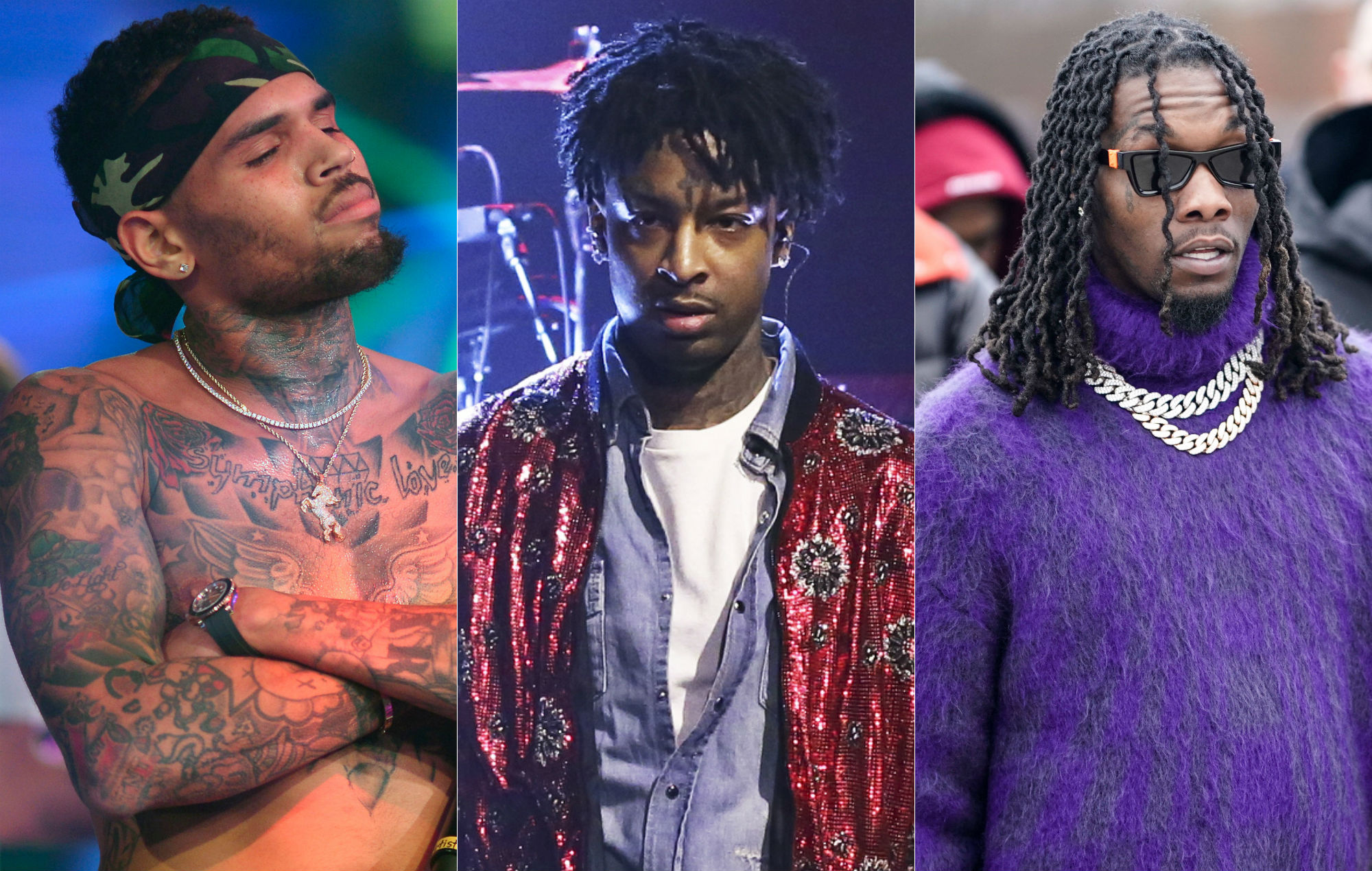 This Is Why Offset Got Cardi B Tattooed On His Neck: Offset Demands Chris Brown's Address As Their Feud Escalates