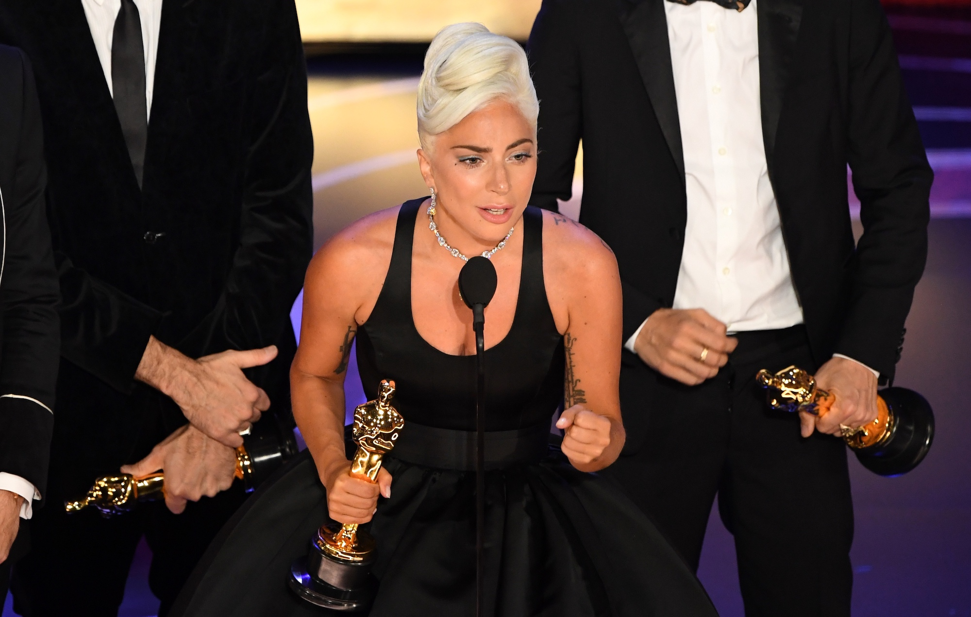 Watch Lady Gaga give impassioned speech as 'Shallow' wins at