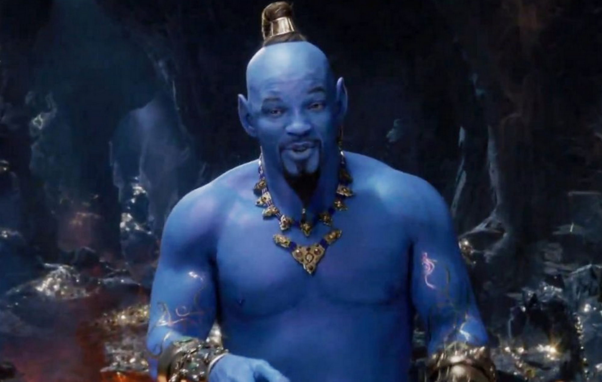 Watch Will Smith Debut As The Genie In New Aladdin Trailer