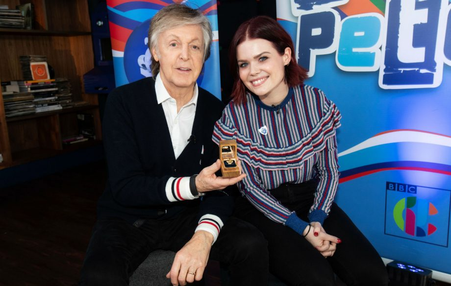 """Yes! I made it!"": Paul McCartney bags a Gold Blue Peter badge"