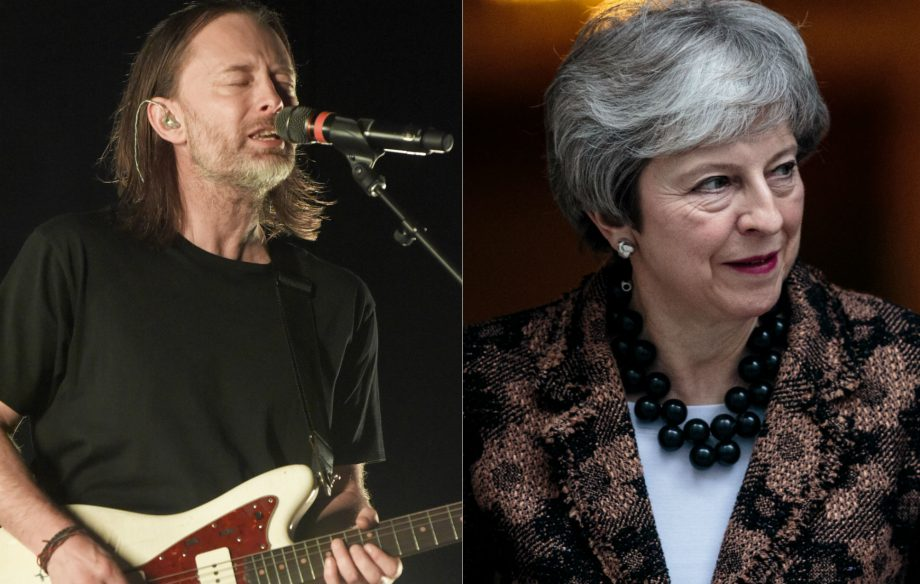 """Thom Yorke compares Theresa May's handling of Brexit to """"the early days of the third reich"""""""